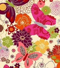 Butterfly fabric - love thos
