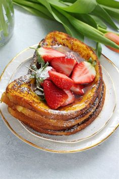 Vegan Cardamom and Saffron French Toast