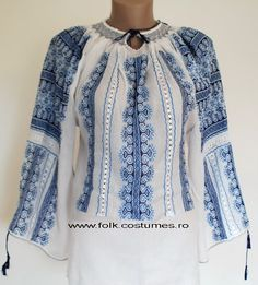 IA the Romanian Blouse. Here you can buy Romanian peasant blouses ie and folk costumes traditional clothes. Worldwide shipping for embroidered Romanian blouse Boho Chic, Bohemian, Peasant Blouse, Holiday Dresses, Traditional Dresses, Dress To Impress, Shirt Style, What To Wear, Cool Style