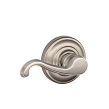 Schlage Callington Left Handed Single Dummy Door Lever With Decorat Satin  Nickel Leverset Single Dummy