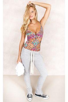 Body Total Print Estampa Fashion Closet - fashioncloset #fashioncloset #adidas #rihnna #puma