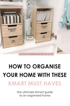 Is your house filled with clutter? If you're looking for organisation ideas for the home, click here for some tips and tricks to declutter and organise small spaces using my favourite must haves storage containers from Kmart! #organisation #organisationtips #declutter #kmart   justanothermummyblog.com