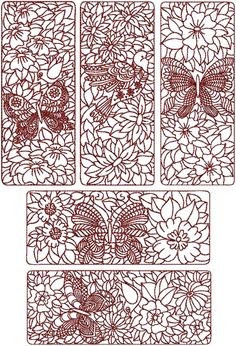 Advanced Embroidery Designs - Birds and Butterflies Quilt Block Set I