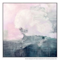 Cloud cover over sea comes to mind with this serene, hand-painted artwork. Ideally hung in your living room, study or bedroom, this piece works beautifully as a complementary piece.
