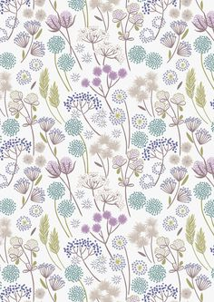 """""""Flowers Floral on White"""" Craft Cotton"""
