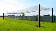 """The Mastodon™ batting cage frame system includes 8.625"""" outside diameter structural steel pipes coated with the same finish used on the Alaska Pipeline. It has fewer components, and offers free and clear spans up to 75' in either direction - without significant sag. - See more at: http://www.prohittingcages.com"""