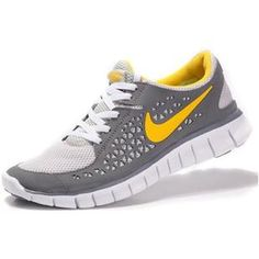 e04e44351ef569 Mens Nike Free Run+ Gainsboro Yelllow Shoes Cheap Nike