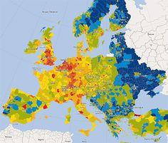 Purchasing power density Europe, 2013 - GfK GeoMarketing