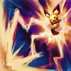 commission for ! ^^ 2 pics submitted in 1 day! BD :C: Pichu used thunderbolt