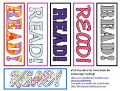 Free - 6 bookmarks with fun patterns to appeal to all your students (or library patrons)!