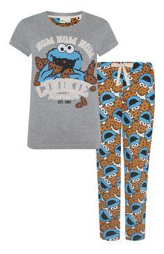Primark - Pyjamaset met Cookie Monster-print