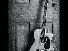 Black & White Guitar Acrylic Painting LIVE Tutorial
