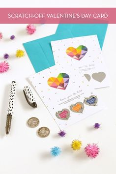 DIY printable scratch-off Valentine's Day card