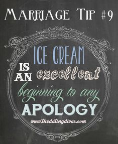 Now THAT is a great marriage tip.