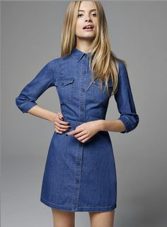 Utility Denim Shirt Dress - Miss Selfridge from Miss Selfridge. Saved to Things I want as gifts
