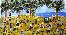 """Εμπνεόμενοι από το έργο του ζωγράφου Θεόφιλου Χατζημιχαήλ """"Το μάζομα των ελαιών εν Μιτυλήνη"""", δημιουργήσαμε το δικό μας έργο τέχνης Σ..."""
