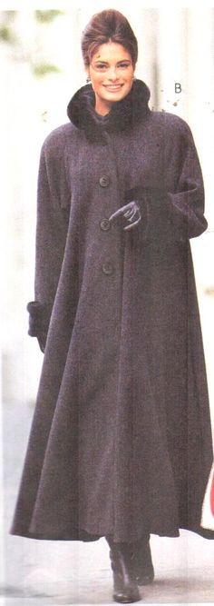 Vintage 90s Coat pattern, McCalls 7947. I just love the Fake Fur Collar & Cuff on this .  Look fashionable and stay warm in this Russian Style Swing Coat. Check out my COAT/Jacket sections of my Etsy store, EXTREMESEWINGDIVA. https://www.etsy.com/listing/257488409/mccalls-7947-sz-8-12-vintage-90s-fur?ref=listing-shop-header-0