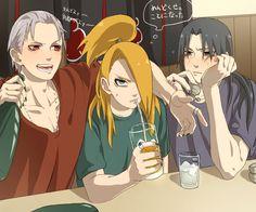 NARUTO, Hidan, Deidara, Uchiha Itachi, Drinks