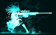 Delight Gill - widescreen hd winter girl with gun - 2560 x 1600 px