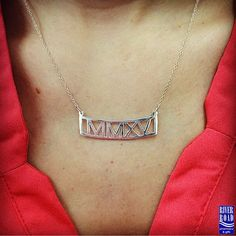 NEW personalized Roman numeral necklaces! What a gorgeous & sophisticated way to commemorate a graduation, wedding, anniversary, birthday, new baby - order ANY year that is special to you! Available in sterling silver or gold vermeil. ‪#‎exclusive‬ ‪#‎romannumeralnecklace‬ ‪#‎shoplocal‬ ‪#‎shopsmall‬ https://www.facebook.com/riverroadpharmacyandgifts