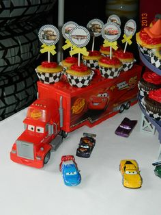 "Disney Cars 2 Birthday Party Ideas Photo 1 of Disney Cars 2 / Birthday ""J's Cars Party"" 2 Birthday, Race Car Birthday, Race Car Party, Birthday Ideas, Disney Cars Party, Disney Cars Birthday, Disney Cars Cupcakes, Car Themed Parties, Cars Birthday Parties"