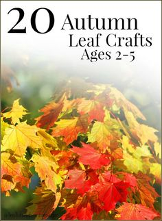 Autumn/Fall leaf crafts for children ages 2-5 - budget-friendly and easy to set up!