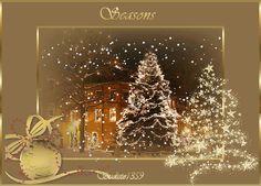 Seasons Greetings home animated gold snow window gif christmas greet