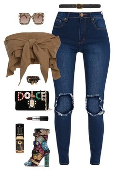 """""""Dripped in Dolce"""" by styleswavington on Polyvore featuring Dolce&Gabbana, Apiece Apart, Gucci, Alexander McQueen, MAC Cosmetics, dolceandgabbana, ootd, highfashion, streetfashion and StephStyles508"""
