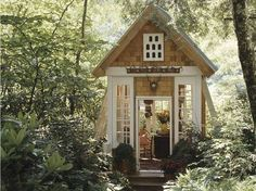 A cosy little shed! Would love something like this <3