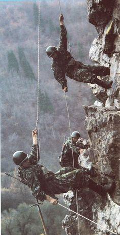 Soviet Border Guards on training.