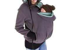 Genji Maternity Kangaroo Hoody Sweatshirt For Baby Carriers (Medium, TP)