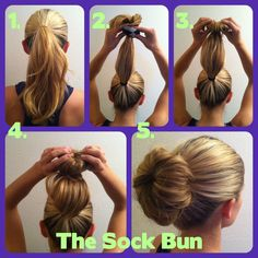 How to make a bun with a sock