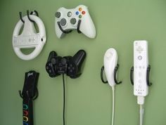 I always lose my controller. With these hooks, now, I can't! Set of 4 Game Controller Wall Clips by laboratory424 ($10.95) #gaming