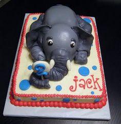 elephant cake @Amanda Snelson Kennedy