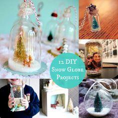 12 Wintery DIY Snow Globe Projects - diycandy.com