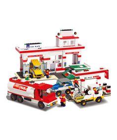 Look at this #zulilyfind! Automotive Service Center Block Set #zulilyfinds