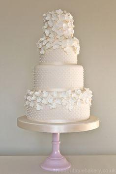 Hydrangea Cascade Wedding Cake