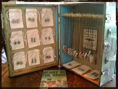 Old Suitcase Jewelry Display