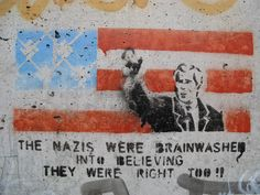 A statement about right wing government and propaganda. Two layers with nice detail on the man.