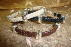 Leather Love  braclete  HIS/HERS PROMISE   with sterling silver. Available 14k/18K 212-302-1218