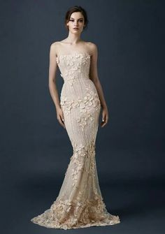 c6a5db9aca35f Beaded column dress with scattered floral embellishment from the Paolo  Sebastian 2015 AW collection // The Sleeping Garden: Paolo Sebastian's  Autumn/Winter ...