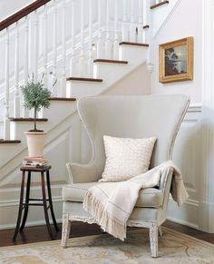 Reminds me of Victoria's chair without the french script on Revenge Eye For Design: Decorating With The Wingback Chair