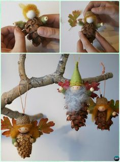 DIY Kids Pine Cone Craft Ideas Projects [Picture Instructions] – Keep up with the times. Acorn Crafts, Pine Cone Crafts, Felt Crafts, Holiday Crafts, Diy Crafts, Primitive Crafts, Primitive Christmas, Country Christmas, Paper Crafts