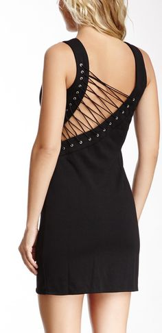Laced-Up Back Dress...I'd rock it if I could