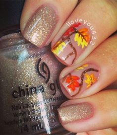 20 Fantastic Nail Designs for Thanksgiving: #14. Chic Thanksgiving Nails