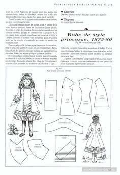 Выкройки старинных платьев / Мастер-классы, творческая мастерская: уроки, схемы, выкройки кукол, своими руками / Бэйбики. Куклы фото. Одежда для кукол