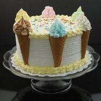 Show product details for Cake - Ice Cream Cone On A Pedestal