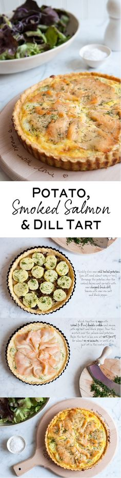 Step-by-step photo guide to making a delicious Potato, Smoked Salmon & Dill Tart   eatlittlebird.com