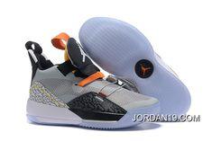 "a0313d98385f4 Air Jordan 33 ""Elephant Print"" Black Wolf Grey-Orange-White Best  SKU 5789-494"