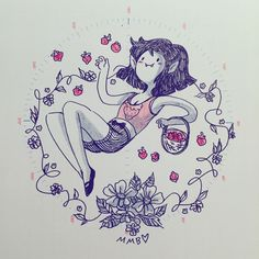 Marceline and some strawberries by missysdraws